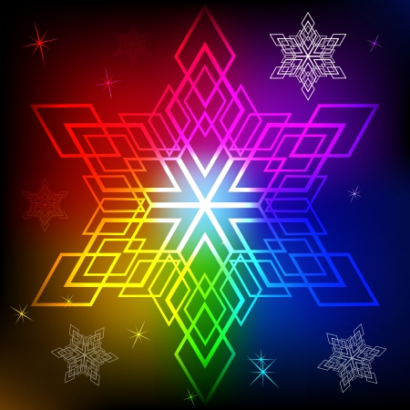 Snowflake shape colorful abstract background Stock Vector - 15900702