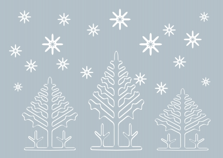 Abstract winter  background with Christmas tree shapes Stock Vector - 15900553