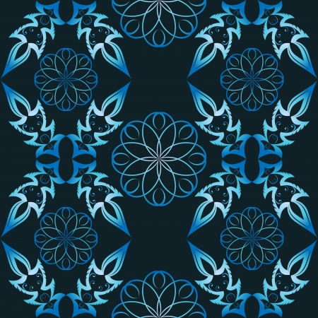 crystallization: Abstract winter blue seamless  pattern   Illustration