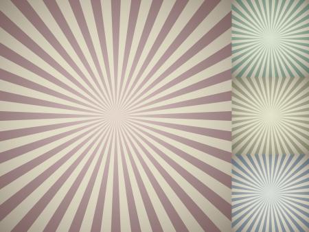 Abstract vintage colored sun burst background  일러스트