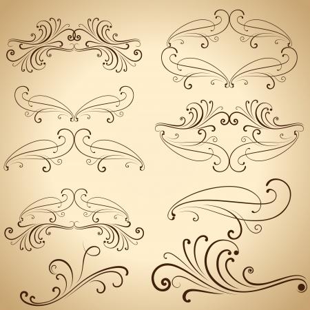 ビンテージ装飾的デザイン要素との仕切り