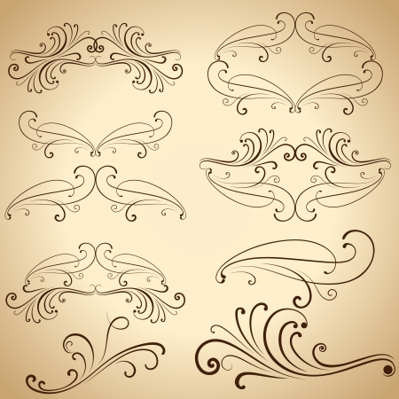 Vintage calligraphic design elements and dividers   Vector