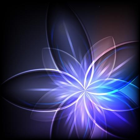 抽象的な青い光の花の背景