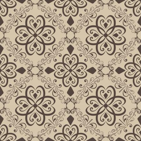 Seamless vintage beige  wallpaper background   Vettoriali