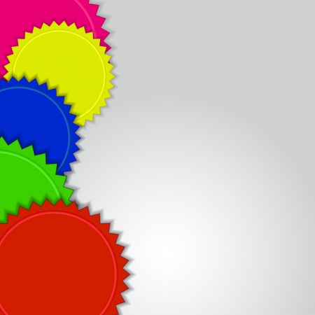 web side: Abstract colorful labels  background with copy space