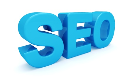 SEO 3D blue letters  Search engine optimization  isolated on white background Stock Photo - 17599703