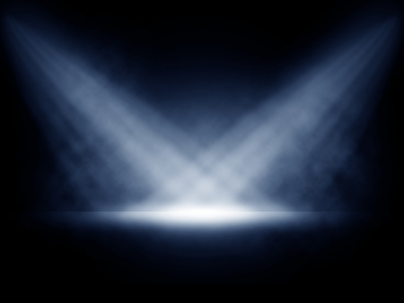 Stage lights with smoky effect background