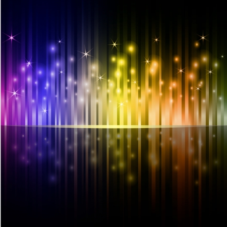 Colorful vertical stripes dark background  Stock Vector - 17599702