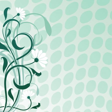 daisywheel: Abstract daisywheel flower  background with copy space  Illustration