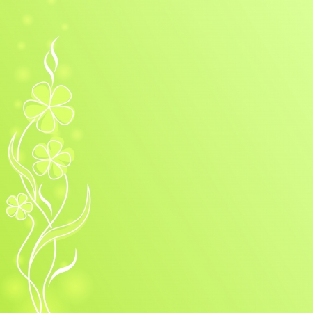 Abstract light green flower spring background with copy space. Vector