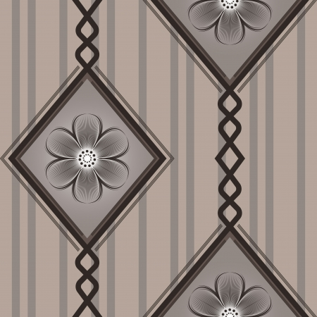 Seamless brown diamond pattern wallpaper background Stock Vector - 17762994