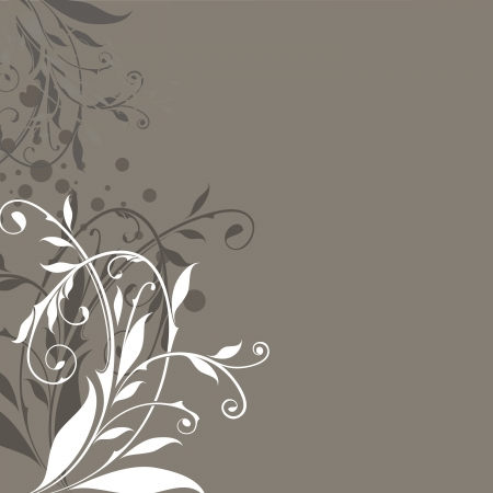 dark side: Abstract floral vintage beige background with copy space