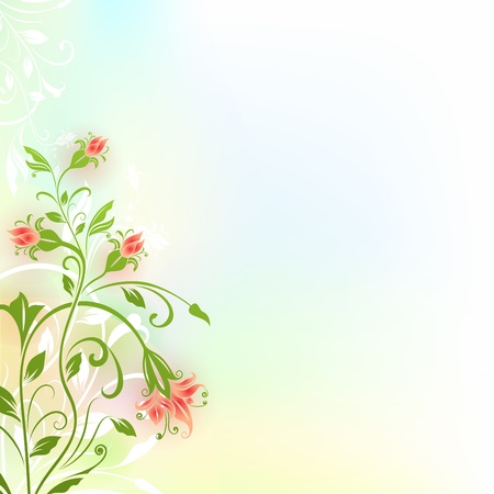 Abstract flower vintage color background with copy space  Vector