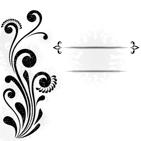 dividing: Abstract background with floral design element and copy space