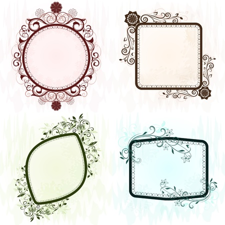 Vintage grunge ornate vector frames set  Stock Vector - 19527625