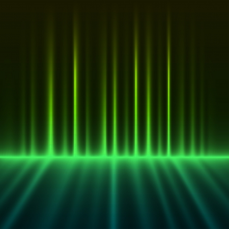 borealis: Abstract green colored aurora borealis lights vector background
