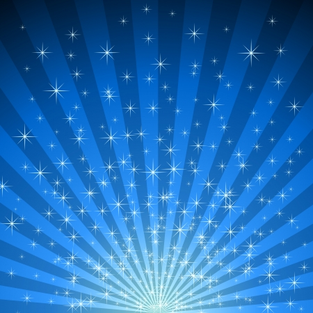 Abstract blue star burst vector background