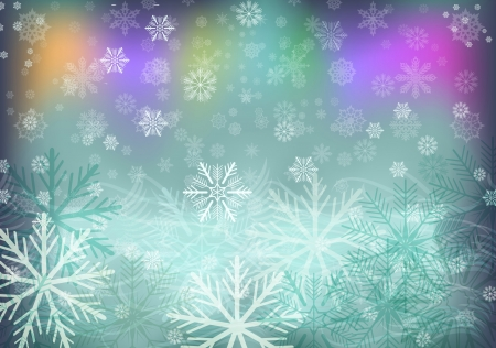 Abstract winter vector background with plenty of snowflakes  Vector