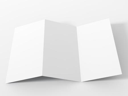 catalog: Blank white folding paper flyer