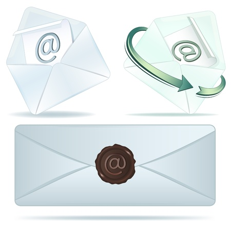 E-mail vector icons isolated on white background Stock Vector - 19701738