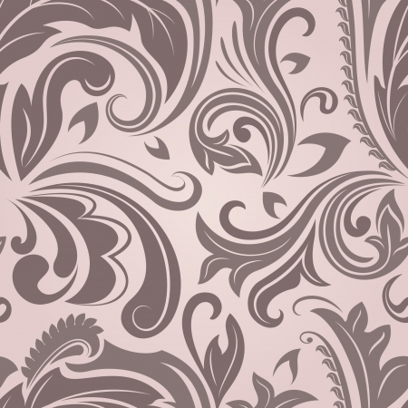 pinky: Seamless pinky brown floral pattern