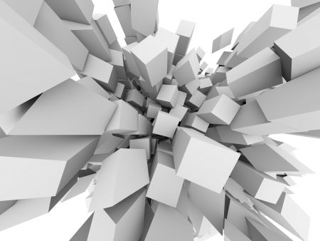 Abstract 3D cubes explode background. Stock Photo - 19703570