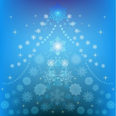 backgrund: Abstract Christmas tree winter vector backgrund  Illustration