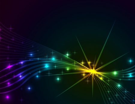 Colorful lights abstract dark vector background   Vector