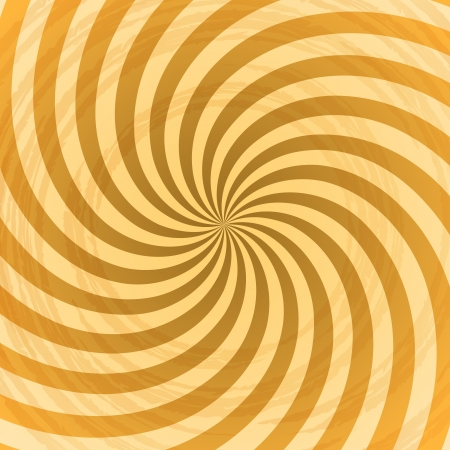 kitsch: Abstract yellow rays swirl vector background