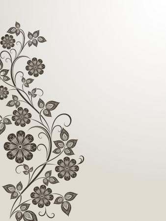 detail invitation: Vintage flower side vector design element