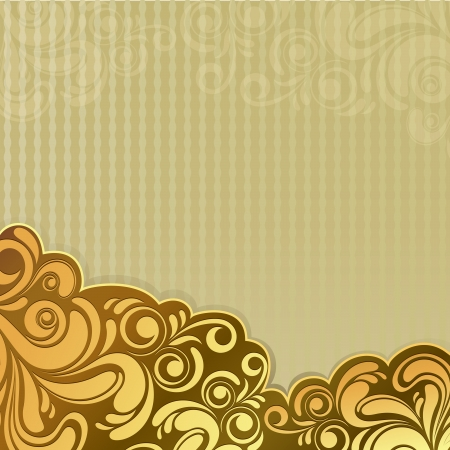 gold letters: Abstract gold vintage floral background with copy space