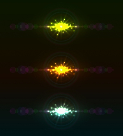Abstract color light flare vector template Stock Vector - 20692173