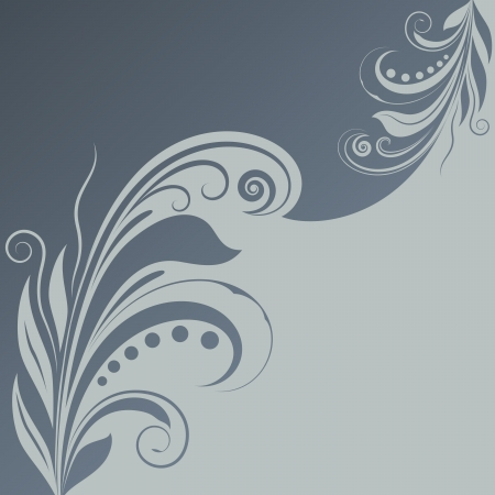 page divider: Abstract gray blue floral background with copy space