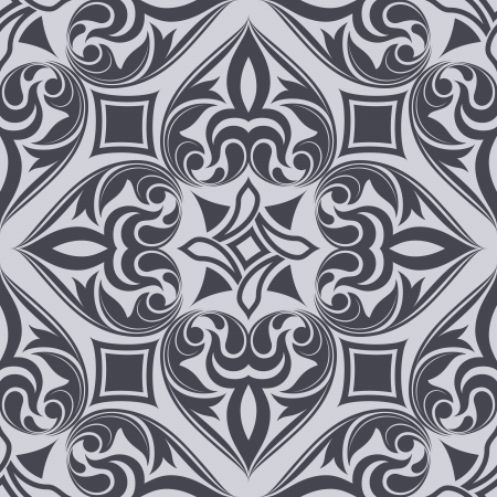 Seamless monochrome abstract diamond ornament vector pattern  Vector