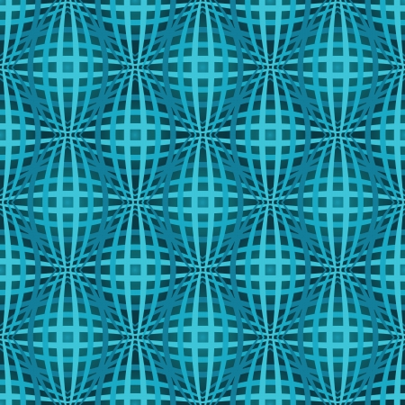 Seamless blue bulged stripes vector pattern  Vector