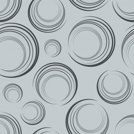 tilable: Seamless gray abstract semicircles pattern  Illustration