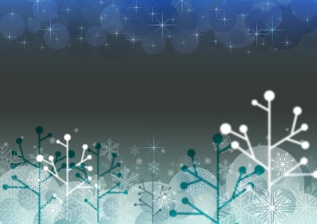 Abstract dark Christmas horizontal background with copy space  photo