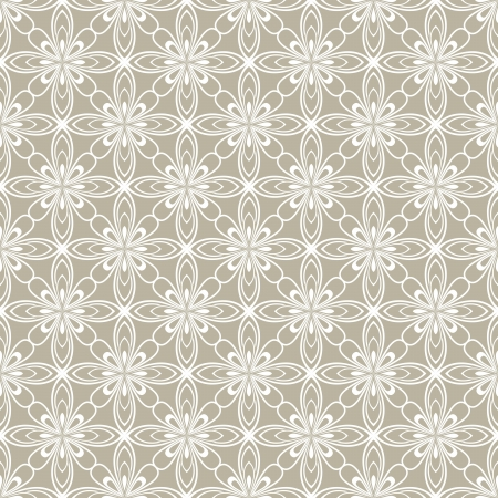 sheer: Seamless beige abstract flowers vector pattern  Illustration