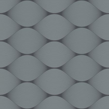 Seamless grey bulge illusion vector pattern  Vector