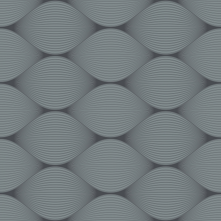 swell: Seamless grey bulge illusion vector pattern  Illustration