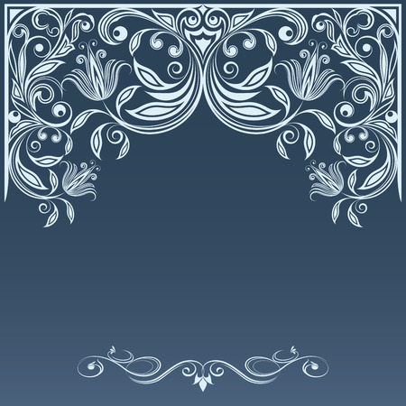 new years day: Winter blue grey and white ornament with copy space vector template   Illustration