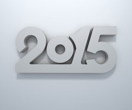 wall design: Abstract 3D 2015 year figures wall design