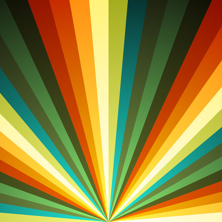 spectacular: Color radial rays vector background.