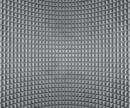 extruded: Grigio flesso parete con piazze estrusi texture.