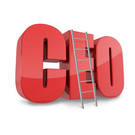 ceo: Ceo business concept with CEO abbreviation and ledder.