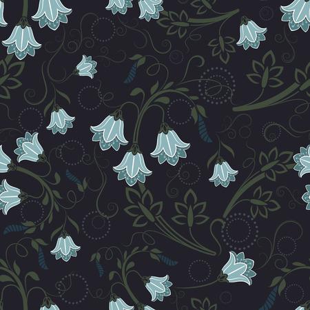 bellflower: Seamless bell-flower floral wallpaper pattern.