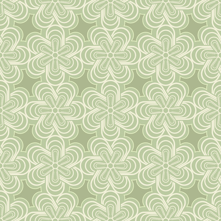 buds: Abstract green spring flower buds vector pattern.