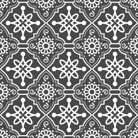 grey abstract background: Abstract seamless oriental ornate vector pattern.