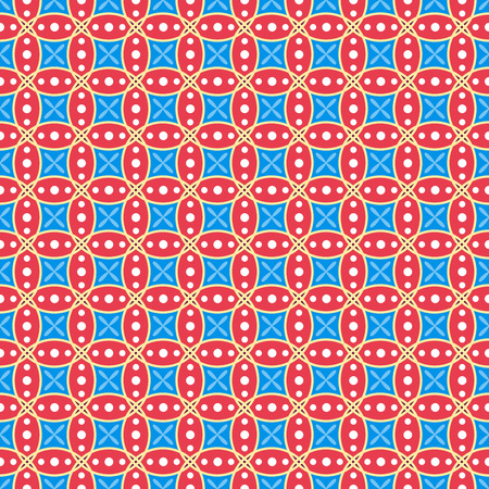 red wallpaper: Red and blue seamless geometric vector wallpaper pattern.