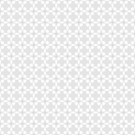 buds: Abstract white wall with flower buds pattern vector background.